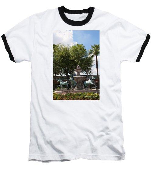 Galloping Water Horses Baseball T-Shirt