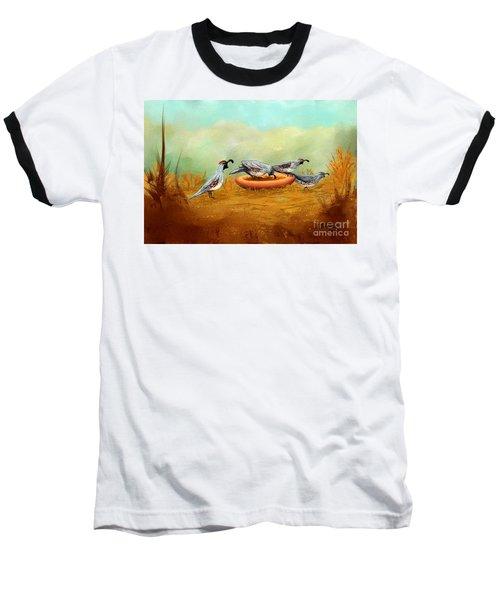 Gambel's Quail On Parade Baseball T-Shirt