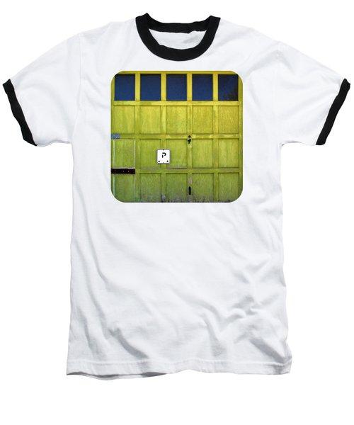 Garage Door Baseball T-Shirt by Ethna Gillespie
