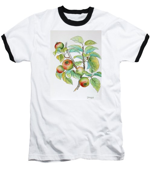 Garden Apples Sketch Baseball T-Shirt