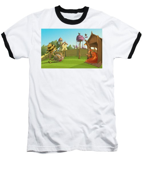 Garden Monsters Baseball T-Shirt