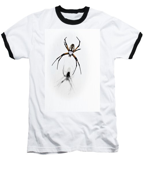 Baseball T-Shirt featuring the photograph Garden Spider With Shadow by Tamyra Ayles