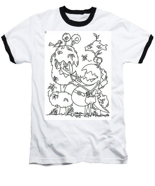 Gardening Monster Baseball T-Shirt