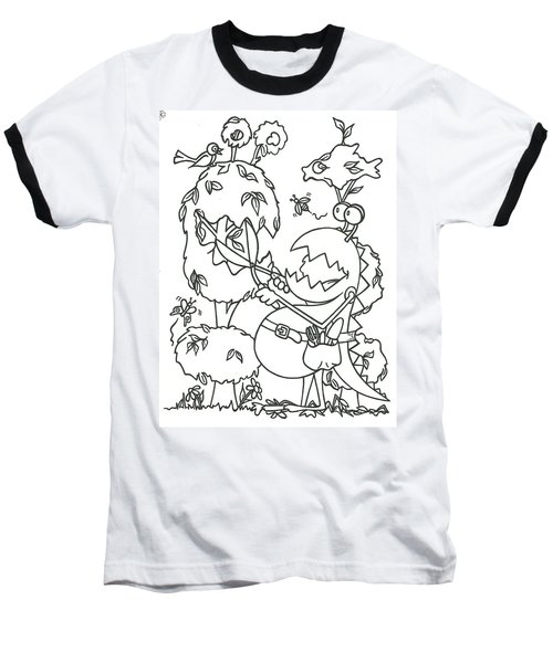 Gardening Monster Baseball T-Shirt