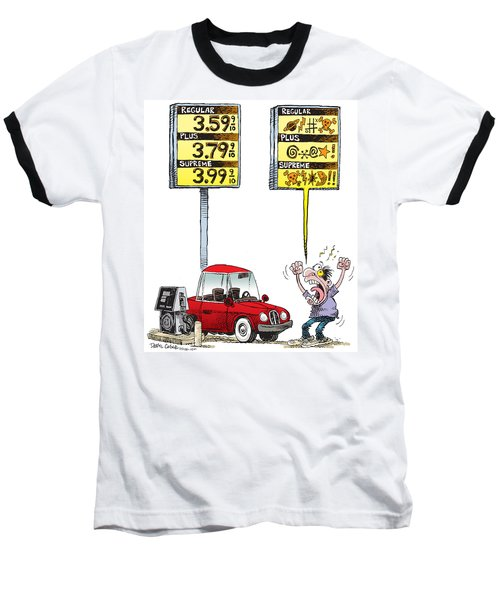 Gas Price Curse Baseball T-Shirt