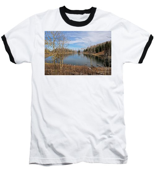 Gates Lake Baseball T-Shirt by Cindy Murphy - NightVisions