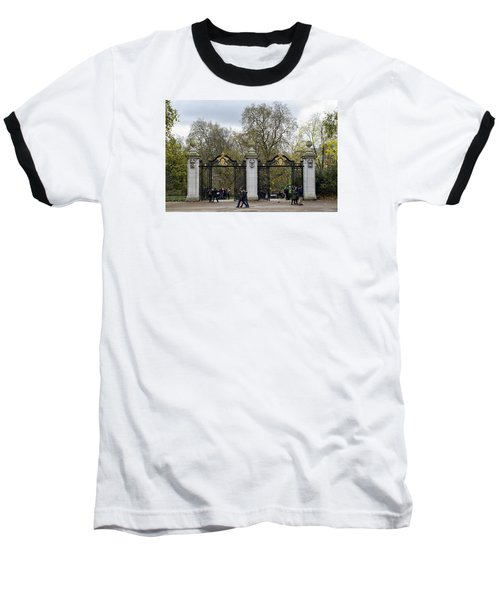 Gates To St James Park Baseball T-Shirt by Shirley Mitchell