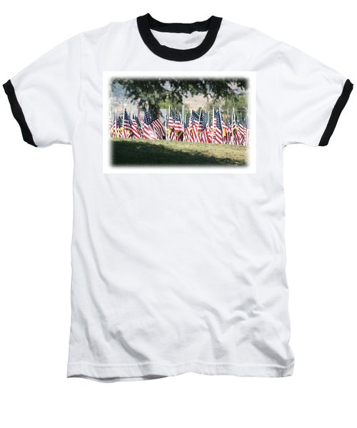 Baseball T-Shirt featuring the digital art Gathering Of The Guard - 2009 by Gary Baird