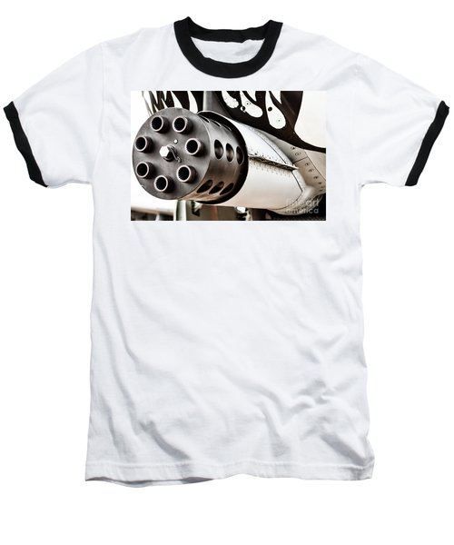 Gatling Baseball T-Shirt by Lawrence Burry