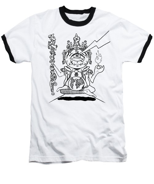 Gautama Buddha Black And White Baseball T-Shirt