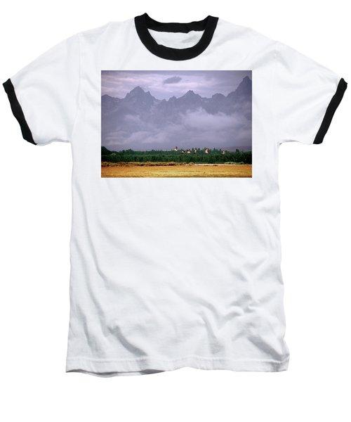 Geese, Grand Tetons Baseball T-Shirt