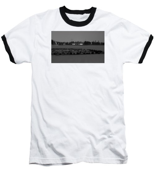Geese In Frozen Lake Baseball T-Shirt