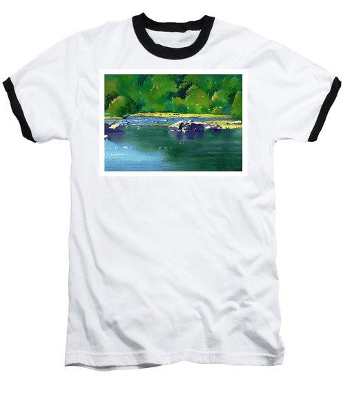 Geese On The Rappahannock Baseball T-Shirt
