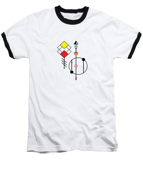 Geometric Art 278 Baseball T-Shirt