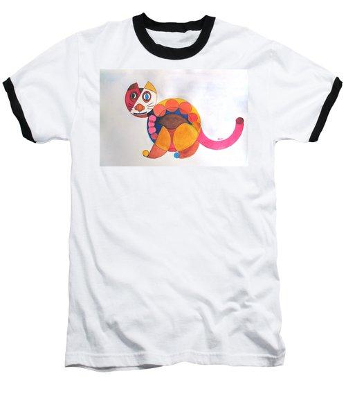 Geometric Cat Baseball T-Shirt