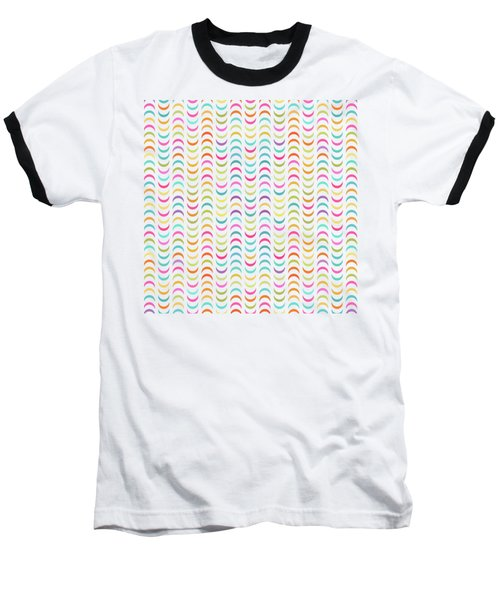 Geometric Pattern Baseball T-Shirt