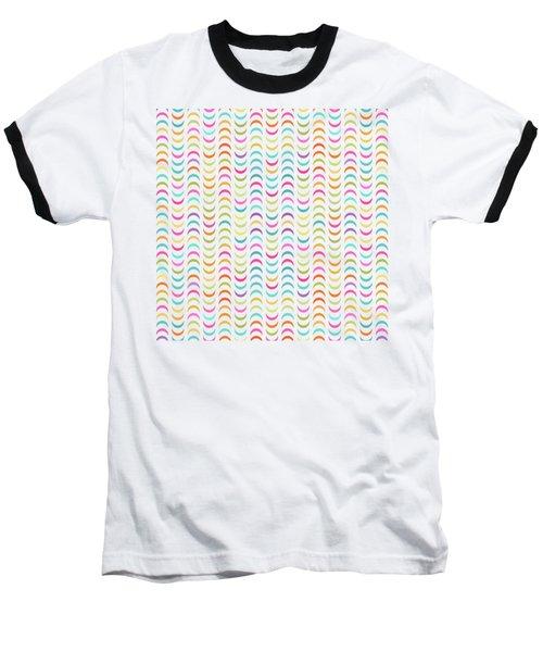 Geometric Pattern Baseball T-Shirt
