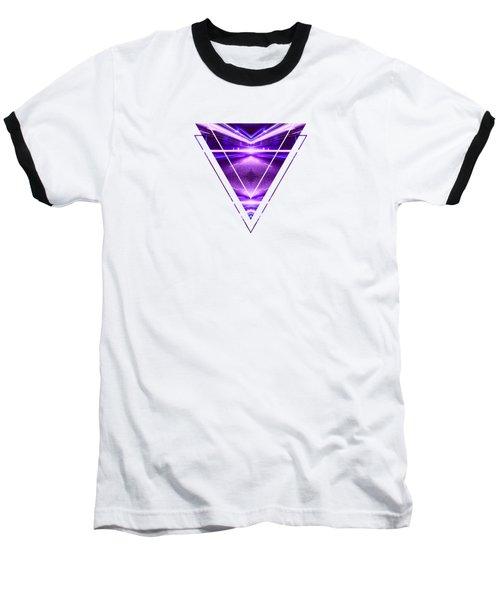Geometric Street Night Light Pink Purple Neon Edition  Baseball T-Shirt