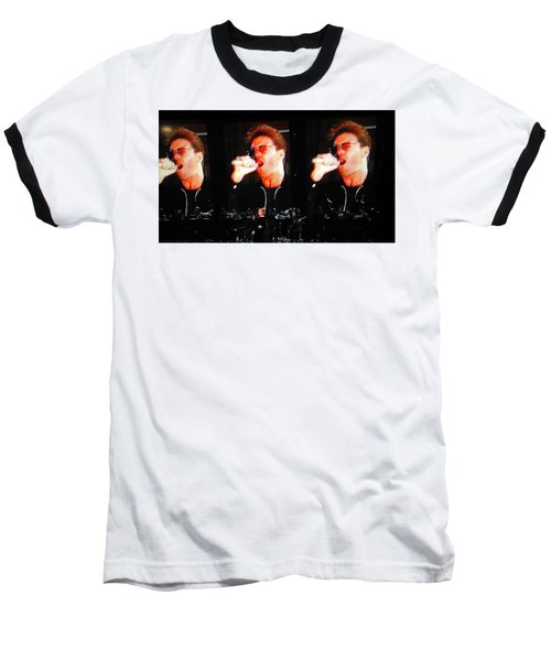 George Michael The Passionate Performer Baseball T-Shirt by Toni Hopper