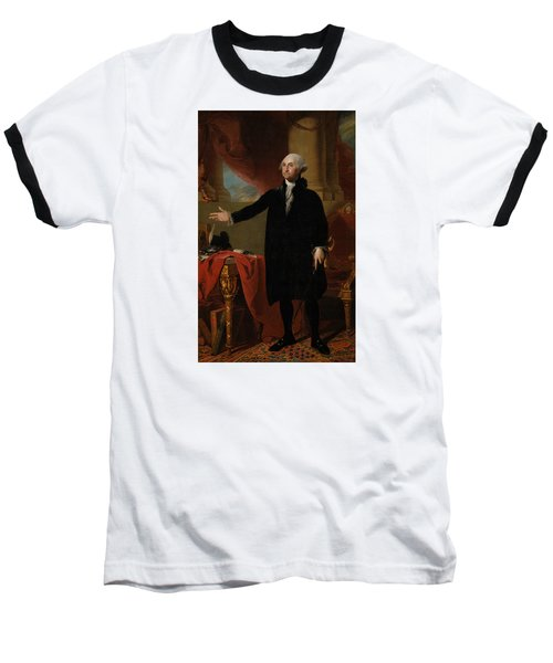 George Washington Lansdowne Portrait Baseball T-Shirt by War Is Hell Store