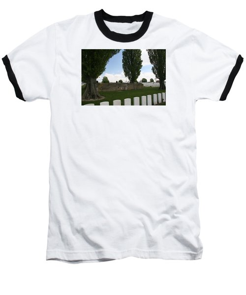German Bunker At Tyne Cot Cemetery Baseball T-Shirt