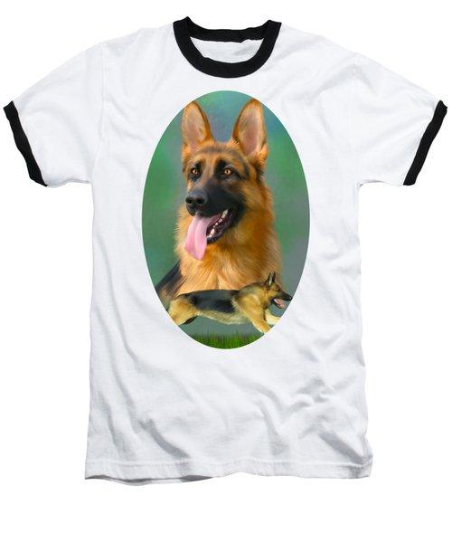German Shepherd Breed Art Baseball T-Shirt