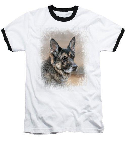 German Shepherd Dreaming Of The Beach Baseball T-Shirt