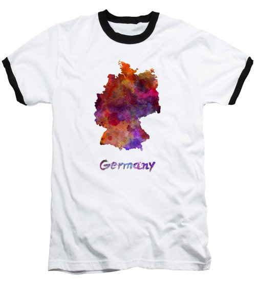 Germany In Watercolor Baseball T-Shirt by Pablo Romero