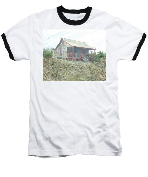 Get Away Cottage Baseball T-Shirt by Joel Deutsch