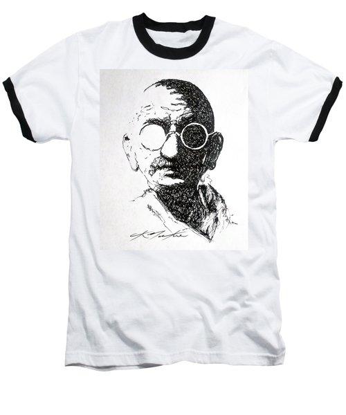Ghandi Baseball T-Shirt