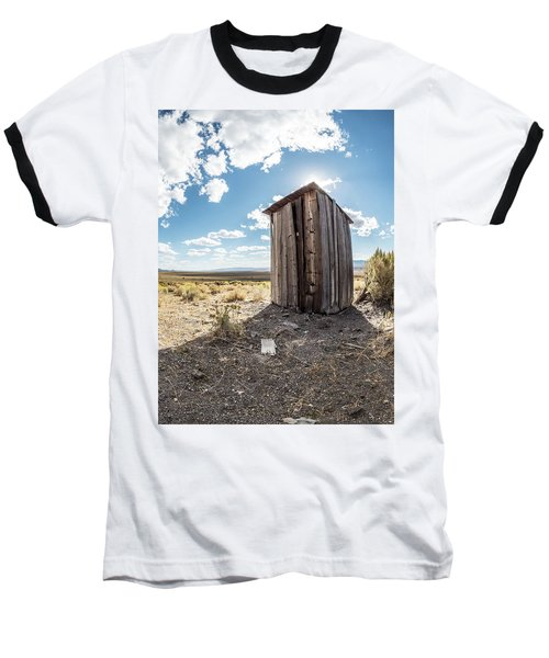 Ghost Town Outhouse Baseball T-Shirt