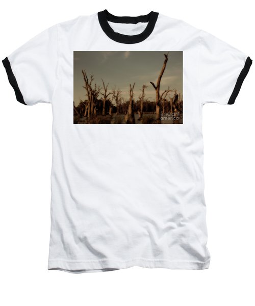 Baseball T-Shirt featuring the photograph Ghostly Trees by Douglas Barnard