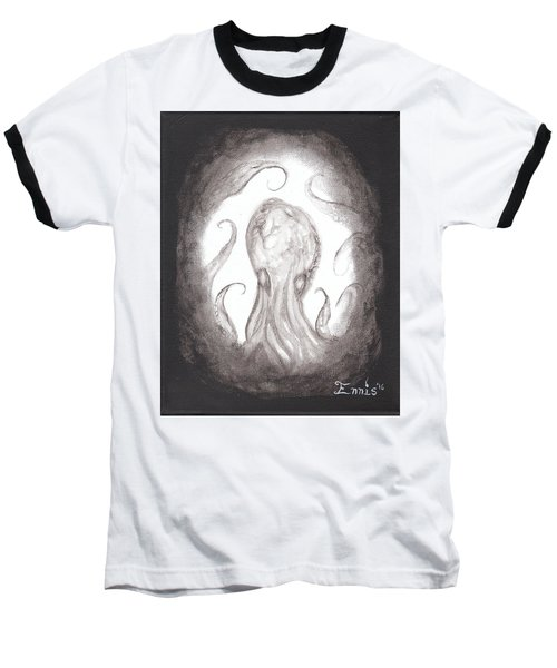 Baseball T-Shirt featuring the painting Ghostopus by Christophe Ennis