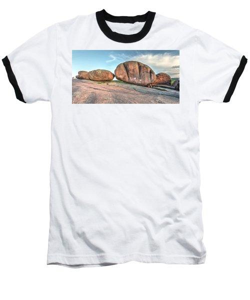 Giant Potatoes Baseball T-Shirt by Harold Rau