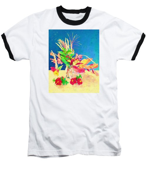 Baseball T-Shirt featuring the digital art Gifts From The Yard Watercolor by Christina Lihani