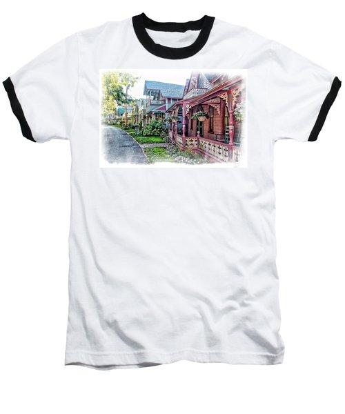 Gingerbread Row Baseball T-Shirt
