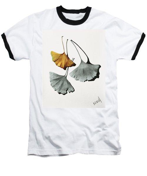 Ginkgo Leaves Baseball T-Shirt by Garry McMichael