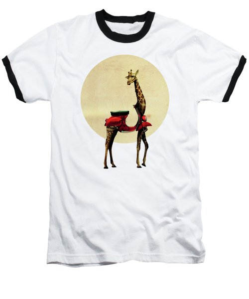 Giraffe Baseball T-Shirt by Ali Gulec
