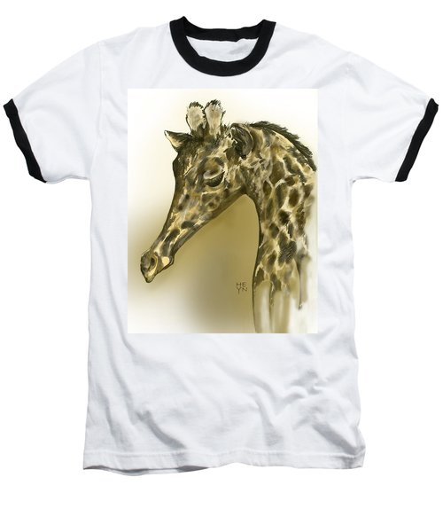 Giraffe Contemplation Baseball T-Shirt