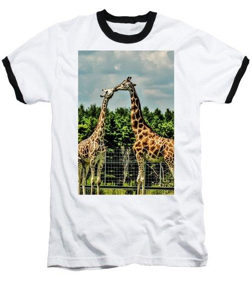 Giraffes Necking Baseball T-Shirt