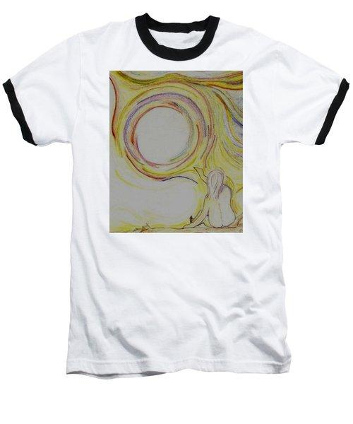 Girl And Universe Creative Connection Baseball T-Shirt
