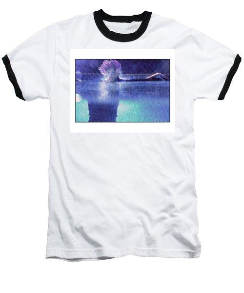 Girl In Pool At Night Baseball T-Shirt