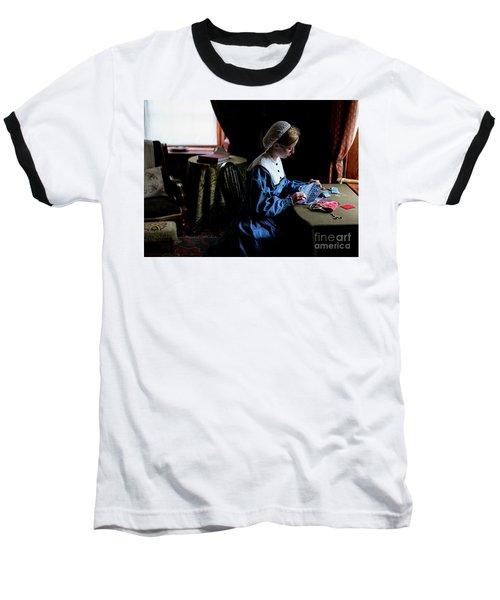 Girl Sewing Baseball T-Shirt