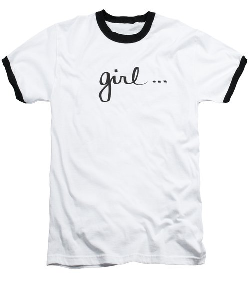 Girl Talk- Art By Linda Woods Baseball T-Shirt by Linda Woods