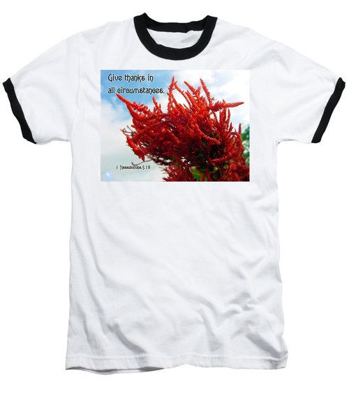 Give Thanks Baseball T-Shirt by Judi Saunders