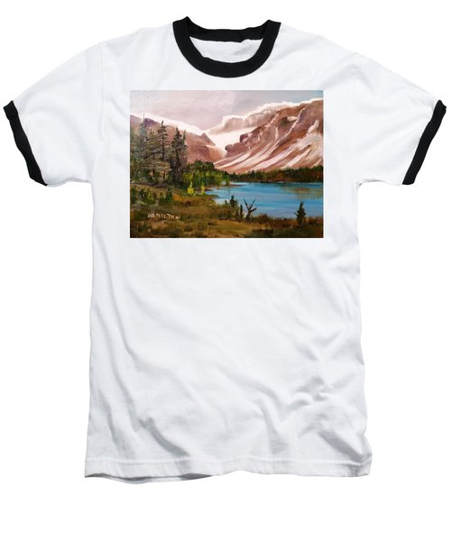 Glacier Lake Baseball T-Shirt by Larry Hamilton
