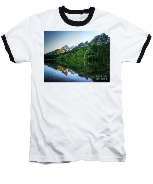 Glacier Lake Baseball T-Shirt by Rebecca Hiatt