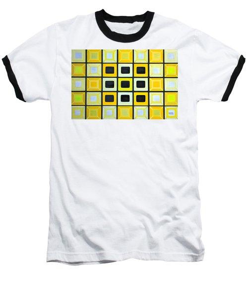Glass Wall Baseball T-Shirt by Lorna Maza