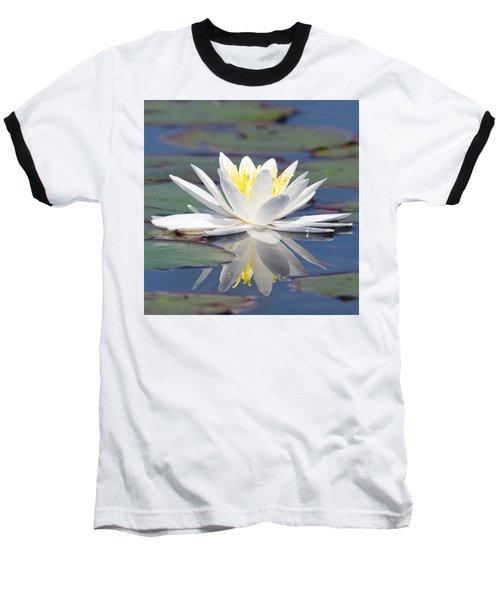 Glorious White Water Lily Baseball T-Shirt