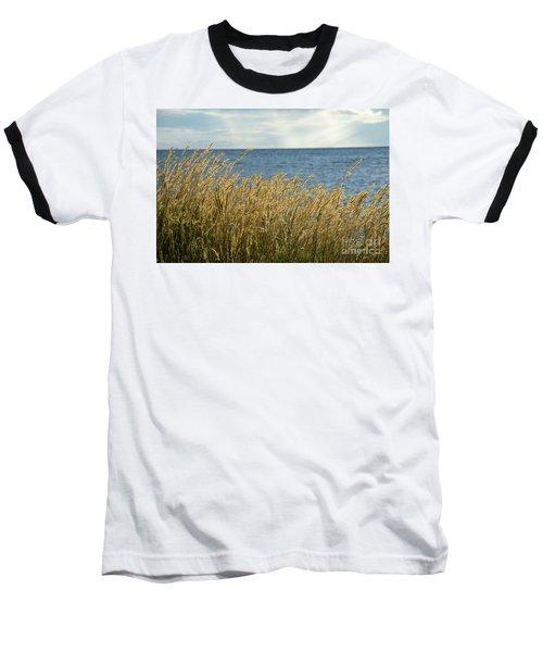 Glowing Grass By The Coast Baseball T-Shirt by Kennerth and Birgitta Kullman